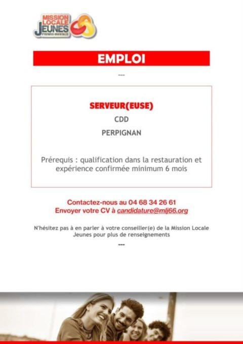 [#EMPLOI] – CDD 6 mois –Perpignan