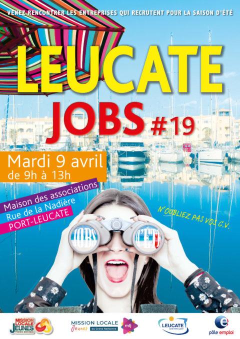 Leucate Jobs #19 – Mardi 9 avril 2019 de 9h à 13h – Port Leucate
